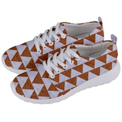 TRIANGLE2 WHITE MARBLE & RUSTED METAL Men s Lightweight Sports Shoes