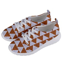TRIANGLE2 WHITE MARBLE & RUSTED METAL Women s Lightweight Sports Shoes