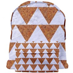 TRIANGLE2 WHITE MARBLE & RUSTED METAL Giant Full Print Backpack
