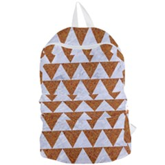 TRIANGLE2 WHITE MARBLE & RUSTED METAL Foldable Lightweight Backpack