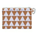 TRIANGLE2 WHITE MARBLE & RUSTED METAL Canvas Cosmetic Bag (XL) View2