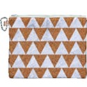 TRIANGLE2 WHITE MARBLE & RUSTED METAL Canvas Cosmetic Bag (XXXL) View1