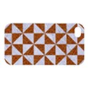 TRIANGLE1 WHITE MARBLE & RUSTED METAL Apple iPhone 4/4S Premium Hardshell Case View1