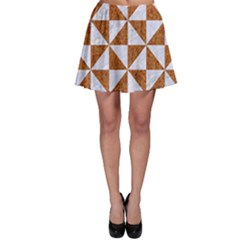 Triangle1 White Marble & Rusted Metal Skater Skirt