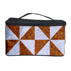 TRIANGLE1 WHITE MARBLE & RUSTED METAL Cosmetic Storage Case