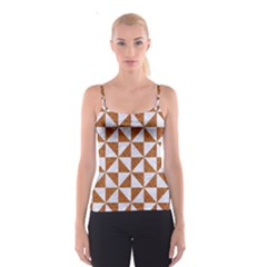 TRIANGLE1 WHITE MARBLE & RUSTED METAL Spaghetti Strap Top