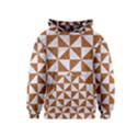 TRIANGLE1 WHITE MARBLE & RUSTED METAL Kids  Pullover Hoodie View1