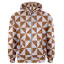 TRIANGLE1 WHITE MARBLE & RUSTED METAL Men s Zipper Hoodie View1