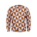 TRIANGLE1 WHITE MARBLE & RUSTED METAL Kids  Sweatshirt View1
