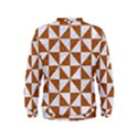 TRIANGLE1 WHITE MARBLE & RUSTED METAL Kids  Sweatshirt View2