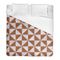 TRIANGLE1 WHITE MARBLE & RUSTED METAL Duvet Cover (Full/ Double Size) View1