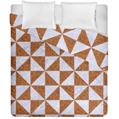 Triangle1 White Marble & Rusted Metal Duvet Cover Double Side (california King Size) by trendistuff