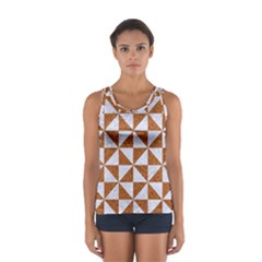 Triangle1 White Marble & Rusted Metal Sport Tank Top