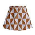 TRIANGLE1 WHITE MARBLE & RUSTED METAL Mini Flare Skirt View1