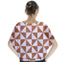 TRIANGLE1 WHITE MARBLE & RUSTED METAL Blouse View2