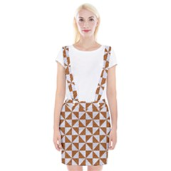 TRIANGLE1 WHITE MARBLE & RUSTED METAL Braces Suspender Skirt