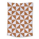 TRIANGLE1 WHITE MARBLE & RUSTED METAL Medium Tapestry View1