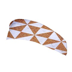 TRIANGLE1 WHITE MARBLE & RUSTED METAL Stretchable Headband