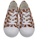 TRIANGLE1 WHITE MARBLE & RUSTED METAL Kids  Low Top Canvas Sneakers View1