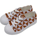 TRIANGLE1 WHITE MARBLE & RUSTED METAL Kids  Low Top Canvas Sneakers View2
