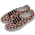 TRIANGLE1 WHITE MARBLE & RUSTED METAL Men s Classic Low Top Sneakers View2