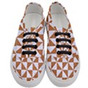 TRIANGLE1 WHITE MARBLE & RUSTED METAL Women s Classic Low Top Sneakers View1