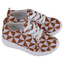 TRIANGLE1 WHITE MARBLE & RUSTED METAL Kids  Lightweight Sports Shoes View3