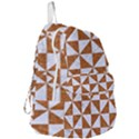 TRIANGLE1 WHITE MARBLE & RUSTED METAL Foldable Lightweight Backpack View3