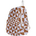 TRIANGLE1 WHITE MARBLE & RUSTED METAL Foldable Lightweight Backpack View4