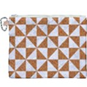 TRIANGLE1 WHITE MARBLE & RUSTED METAL Canvas Cosmetic Bag (XXXL) View1