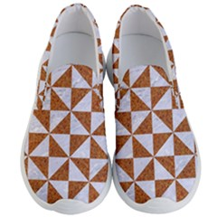 TRIANGLE1 WHITE MARBLE & RUSTED METAL Men s Lightweight Slip Ons