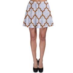 TILE1 WHITE MARBLE & RUSTED METAL (R) Skater Skirt