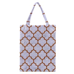 Tile1 White Marble & Rusted Metal (r) Classic Tote Bag by trendistuff
