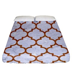 Tile1 White Marble & Rusted Metal (r) Fitted Sheet (queen Size) by trendistuff