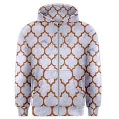 TILE1 WHITE MARBLE & RUSTED METAL (R) Men s Zipper Hoodie