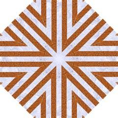 Stripes1 White Marble & Rusted Metal Hook Handle Umbrellas (large) by trendistuff