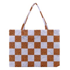 Square1 White Marble & Rusted Metal Medium Tote Bag by trendistuff