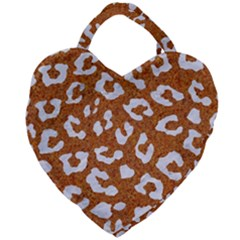 Skin5 White Marble & Rusted Metal (r) Giant Heart Shaped Tote by trendistuff