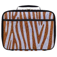 Skin4 White Marble & Rusted Metal Full Print Lunch Bag