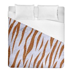 Skin3 White Marble & Rusted Metal (r) Duvet Cover (full/ Double Size) by trendistuff