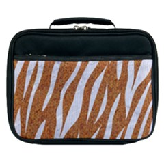 Skin3 White Marble & Rusted Metal Lunch Bag