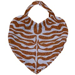 Skin2 White Marble & Rusted Metal Giant Heart Shaped Tote by trendistuff