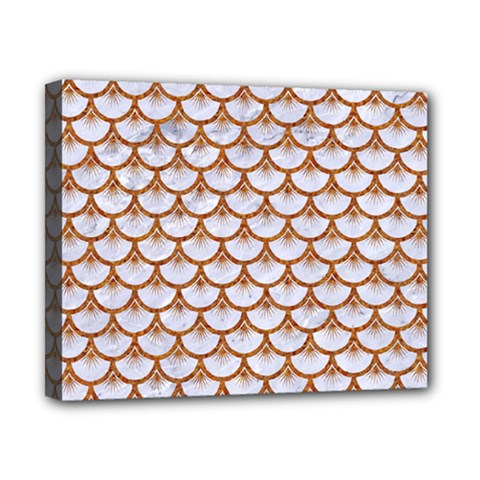 Scales3 White Marble & Rusted Metal (r) Canvas 10  X 8  by trendistuff
