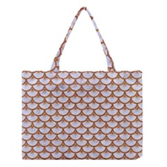 Scales3 White Marble & Rusted Metal (r) Medium Tote Bag by trendistuff