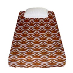Scales2 White Marble & Rusted Metal Fitted Sheet (single Size) by trendistuff