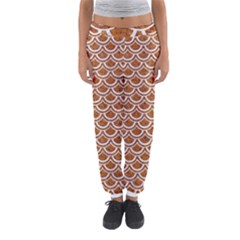 Scales2 White Marble & Rusted Metal Women s Jogger Sweatpants by trendistuff