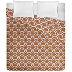 Scales2 White Marble & Rusted Metal Duvet Cover Double Side (california King Size) by trendistuff