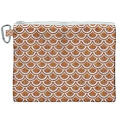 Scales2 White Marble & Rusted Metal Canvas Cosmetic Bag (xxl) by trendistuff