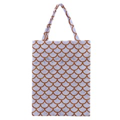 Scales1 White Marble & Rusted Metal (r) Classic Tote Bag by trendistuff