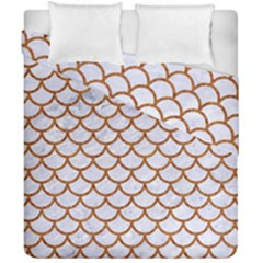 Scales1 White Marble & Rusted Metal (r) Duvet Cover Double Side (california King Size) by trendistuff